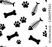 animal seamless pattern with... | Shutterstock .eps vector #1186099561