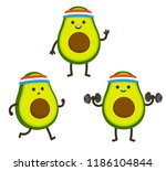 funny heath and fitness... | Shutterstock . vector #1186104844