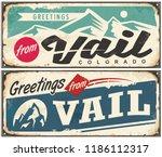 vail colorado retro souvenir... | Shutterstock .eps vector #1186112317
