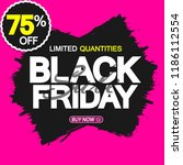 black friday sale  banner... | Shutterstock .eps vector #1186112554