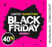 black friday sale  banner... | Shutterstock .eps vector #1186112647