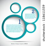 modern design template for your ... | Shutterstock .eps vector #118611559