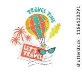 travel illustration vector set... | Shutterstock .eps vector #1186123291