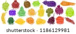 fruit and vegetables set... | Shutterstock .eps vector #1186129981
