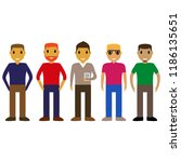 cartoon people on a white... | Shutterstock .eps vector #1186135651
