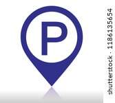 pointer for parking | Shutterstock .eps vector #1186135654