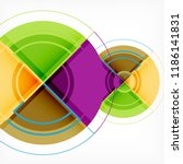 creative circles geometric... | Shutterstock .eps vector #1186141831
