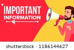 important information banner.... | Shutterstock . vector #1186144627