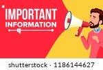 important information banner.... | Shutterstock . vector #1186144627