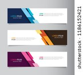 vector abstract banner design... | Shutterstock .eps vector #1186152421