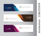 vector abstract banner design... | Shutterstock .eps vector #1186152424