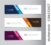 vector abstract banner design... | Shutterstock .eps vector #1186152427