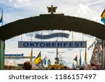 munich  germany  oktoberfest  ... | Shutterstock . vector #1186157497