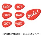 price tag ticket. sale tickets... | Shutterstock .eps vector #1186159774