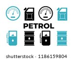 gas station vector icons set.... | Shutterstock .eps vector #1186159804