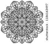 outline mandala. ornamental... | Shutterstock .eps vector #1186163497