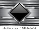 metal background. black glass... | Shutterstock . vector #1186165654