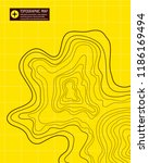 yellow topographic map  vector... | Shutterstock .eps vector #1186169494