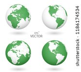 a set of four globes. each of... | Shutterstock .eps vector #1186174534