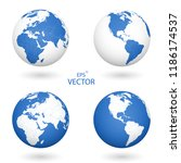 a set of four globes. each of... | Shutterstock .eps vector #1186174537