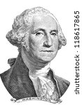 Gravure Of George Washington I...