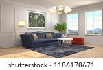 interior of the living room. 3d ... | Shutterstock . vector #1186178671