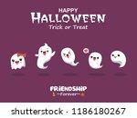 vintage halloween poster design ... | Shutterstock .eps vector #1186180267