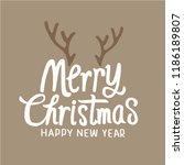 merry christmas typographic... | Shutterstock .eps vector #1186189807
