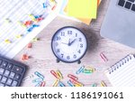 time management concept.... | Shutterstock . vector #1186191061
