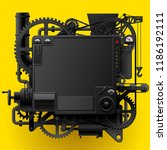 black complex fantastic machine ... | Shutterstock .eps vector #1186192111