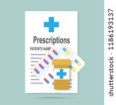 prescriptions and pills icon.... | Shutterstock .eps vector #1186193137