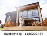 young people with little... | Shutterstock . vector #1186202434