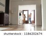 three person in hallway near...   Shutterstock . vector #1186202674