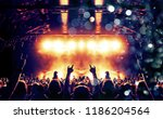 concert hall with colourful... | Shutterstock . vector #1186204564