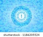 compass icon inside light blue... | Shutterstock .eps vector #1186205524