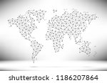 abstract world map. network... | Shutterstock .eps vector #1186207864