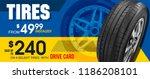 aluminum wheel. banner. promo.... | Shutterstock .eps vector #1186208101