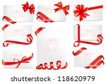 set of gift card notes with red ... | Shutterstock .eps vector #118620979
