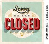vintage store sign   closed  ... | Shutterstock .eps vector #118621501