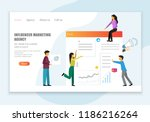 website page design template.... | Shutterstock .eps vector #1186216264