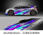 car decal wrap design vector.... | Shutterstock .eps vector #1186218484