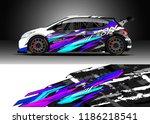 car decal wrap design vector.... | Shutterstock .eps vector #1186218541