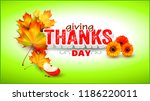 thanksgiving.label with autumn... | Shutterstock .eps vector #1186220011