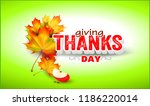 thanksgiving.label with autumn... | Shutterstock .eps vector #1186220014