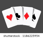 card suit icon vector  playing... | Shutterstock .eps vector #1186225954