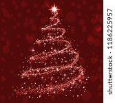 shine christmas tree   vector   Shutterstock .eps vector #1186225957