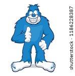 Stock vector blue bigfoot mascot 1186228387