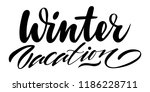 winter vacation. isolated... | Shutterstock .eps vector #1186228711
