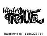 winter travel. isolated vector  ... | Shutterstock .eps vector #1186228714