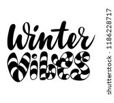 winter vibes. isolated vector ... | Shutterstock .eps vector #1186228717